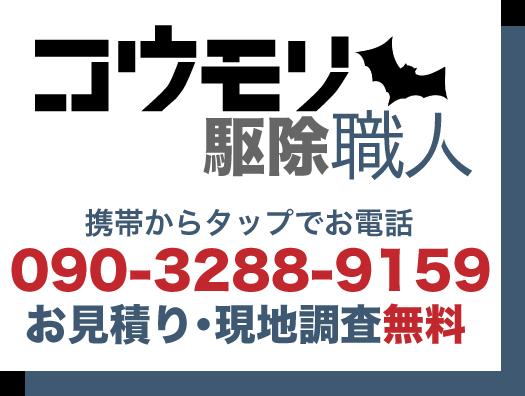 兵庫のコウモリ駆除はお見積もり・現地調査無料 お電話090-3288-9159
